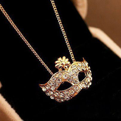 Mask Pendant Necklace - Fierce Finds Mobile Boutique  - 2