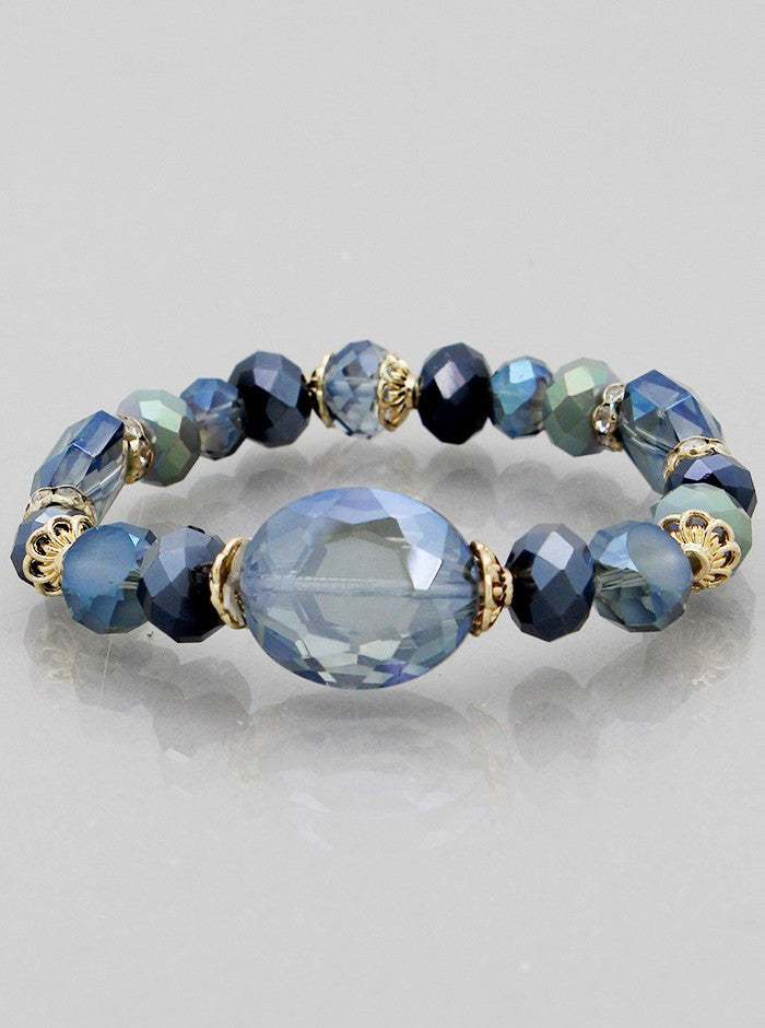Glass Beads Stretch Bracelets - Fierce Finds Mobile Boutique  - 2