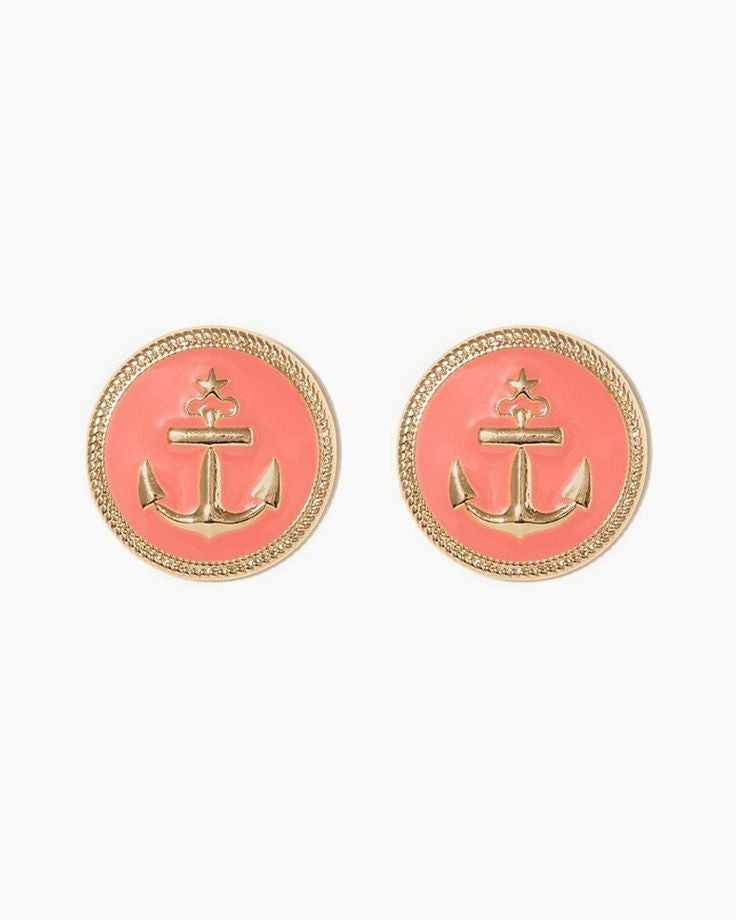 Large Nautical Stud Earrings - Fierce Finds Mobile Boutique  - 2