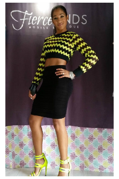 Neon Crochet Banded Crop Top - Fierce Finds Mobile Boutique  - 2