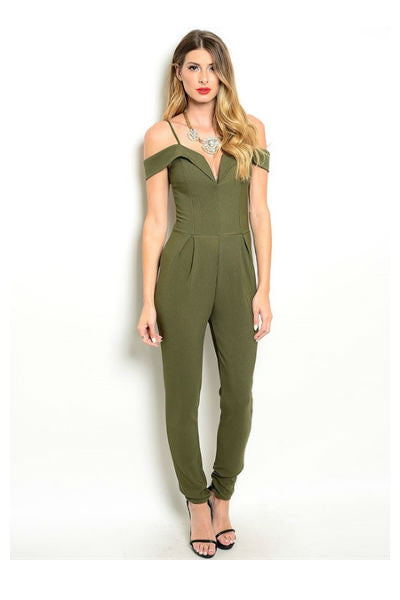 Olive Jumpsuit - Fierce Finds Mobile Boutique  - 2