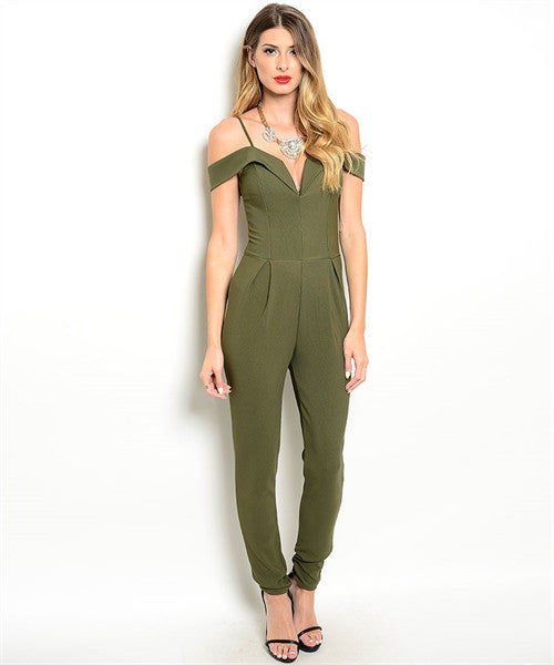 Olive Jumpsuit - Fierce Finds Mobile Boutique  - 3