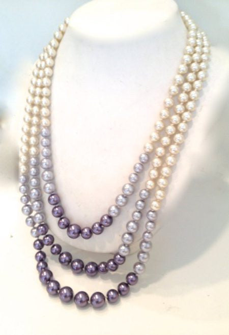 Purple Metals Pearl Necklace - Fierce Finds Mobile Boutique  - 3