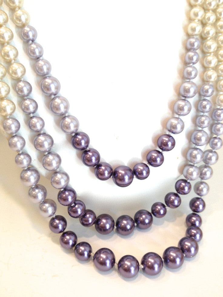 Purple Metals Pearl Necklace - Fierce Finds Mobile Boutique  - 4