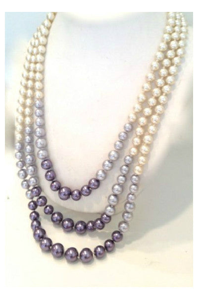 Purple Metals Pearl Necklace - Fierce Finds Mobile Boutique  - 2