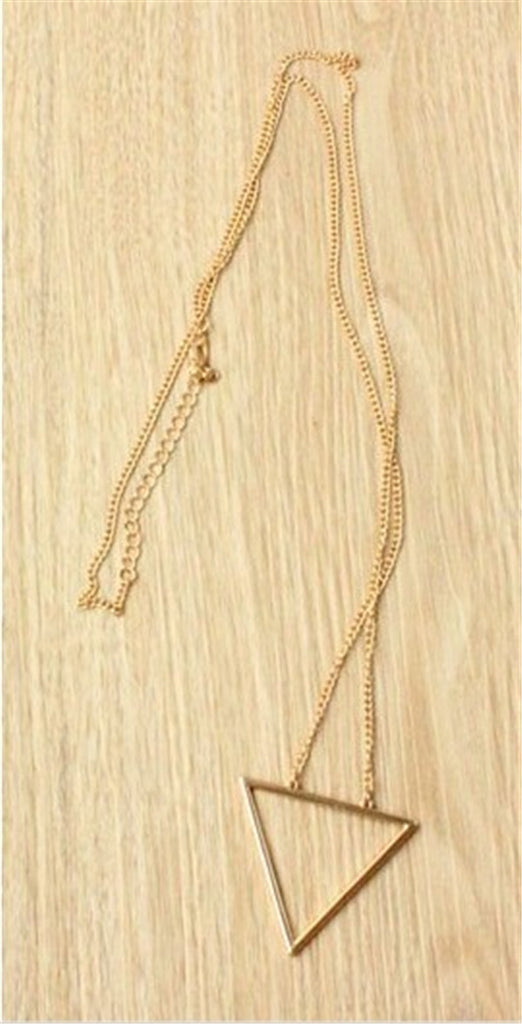 Open Triangle Long Chain - Fierce Finds Mobile Boutique  - 3