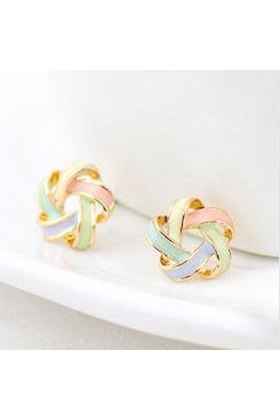 Pinwheel Stud Earrings - Fierce Finds Mobile Boutique  - 1