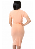 Georgia Peach Skirt Set - Fierce Finds Mobile Boutique  - 3