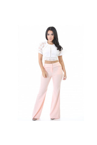 Werk Wide Leg Pant-Women - Apparel - Pants - High Waisted-Fierce Finds Mobile Boutique