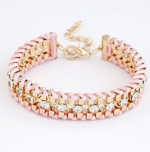 Hand-Woven Rhinestone Chain Bracelets & Bangle - Fierce Finds Mobile Boutique  - 2