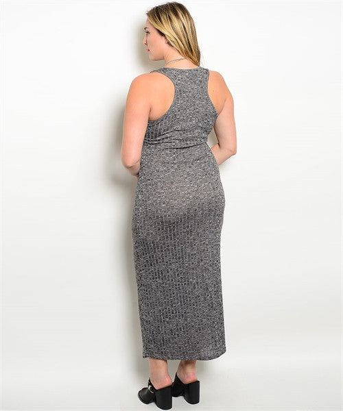 Knit Plus Size Maxi - Fierce Finds Mobile Boutique  - 3