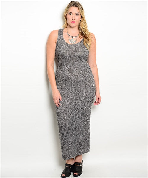 Knit Plus Size Maxi - Fierce Finds Mobile Boutique  - 2