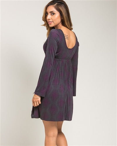 Purple Empire Waist Day Dress - Fierce Finds Mobile Boutique  - 4