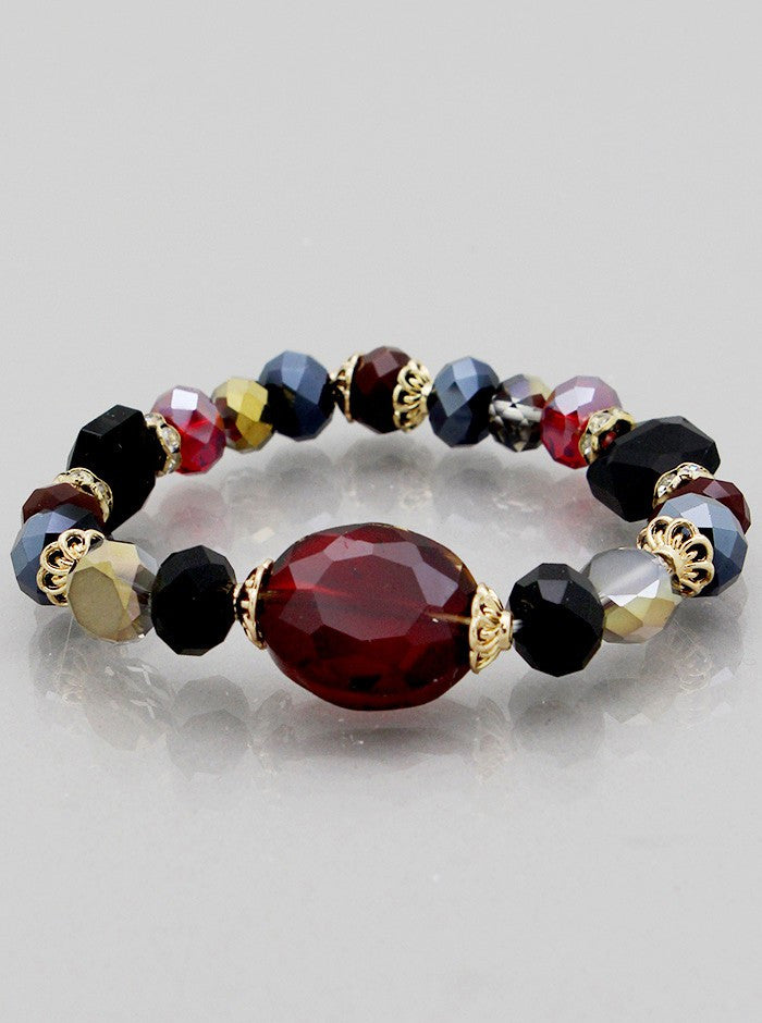 Glass Beads Stretch Bracelets - Fierce Finds Mobile Boutique  - 4