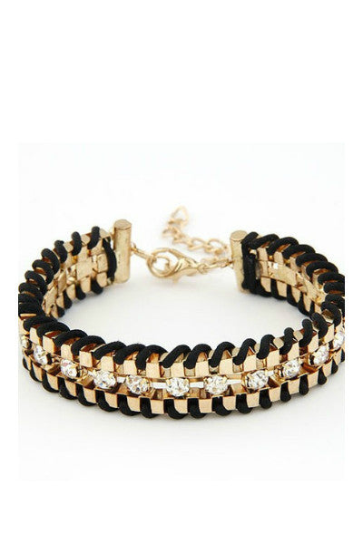 Hand Woven Rope Gold Bracelet - Fierce Finds Mobile Boutique  - 4