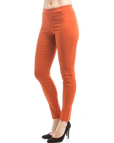 Rust Ponte Pants - Fierce Finds Mobile Boutique  - 3