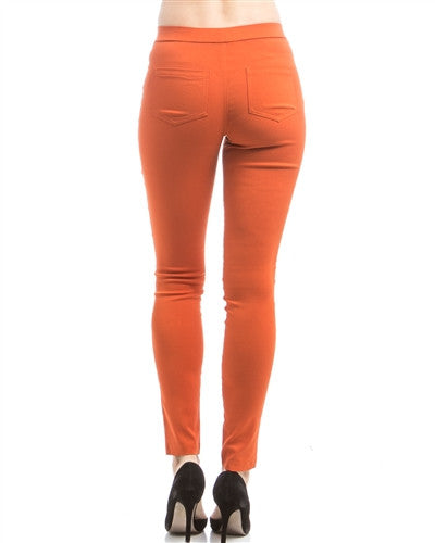 Rust Ponte Pants - Fierce Finds Mobile Boutique  - 4