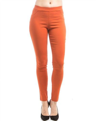 Rust Ponte Pants - Fierce Finds Mobile Boutique  - 2
