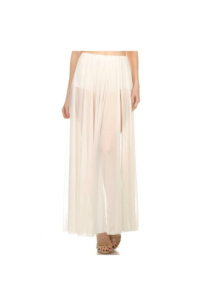 White Sheer Maxi Skirt-Women - Apparel - Skirts - Maxi-Fierce Finds Mobile Boutique