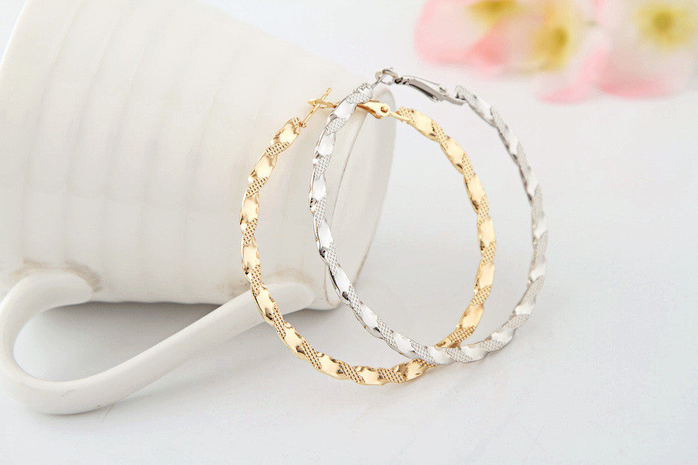 Textured Hoop Earrings - Fierce Finds Mobile Boutique  - 3