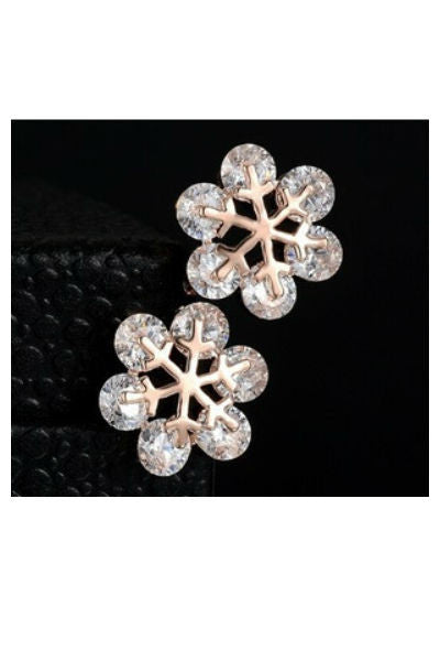Snowflake Crystal Stud Earrings - Fierce Finds Mobile Boutique  - 3