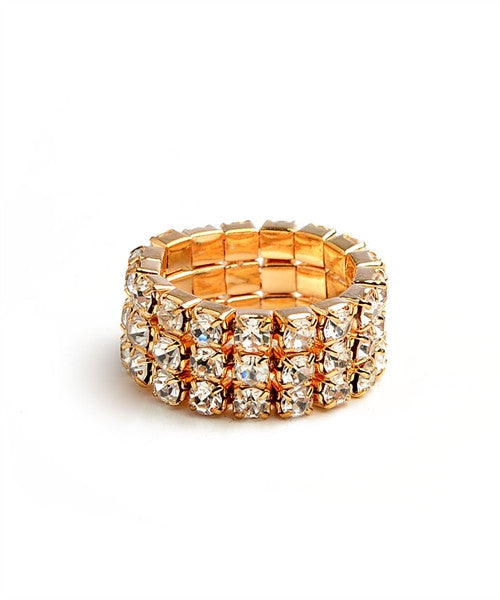 Crystal Stretch Ring - Fierce Finds Mobile Boutique  - 2