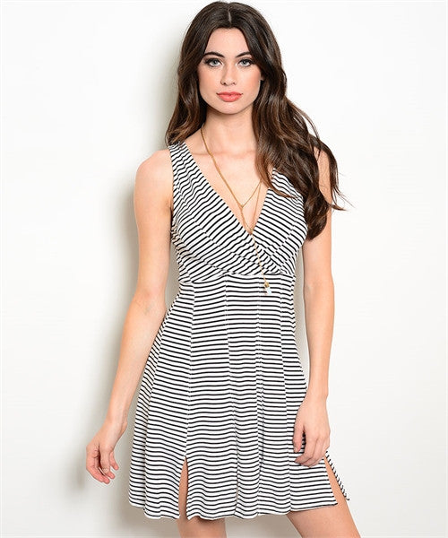 Stripe Day Dress-Women - Apparel - Dresses - Day to Night-Fierce Finds Mobile Boutique