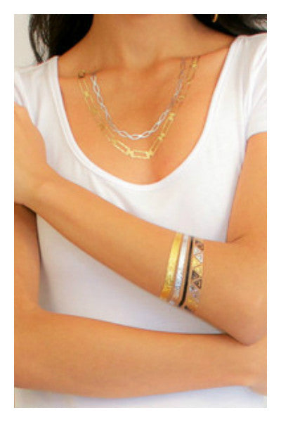 Arch Gold Bling Tattoos - Fierce Finds Mobile Boutique  - 3