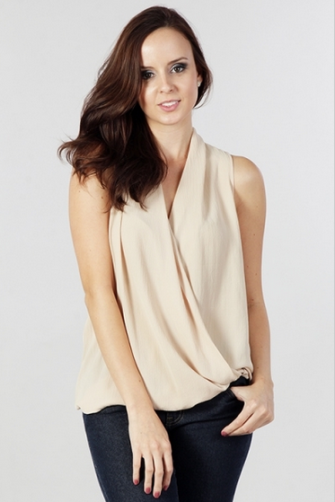 Drape Wrap Top-Women - Apparel - Shirts - Blouses-Fierce Finds Mobile Boutique