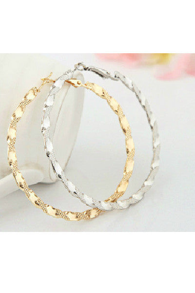 Textured Hoop Earrings - Fierce Finds Mobile Boutique  - 2
