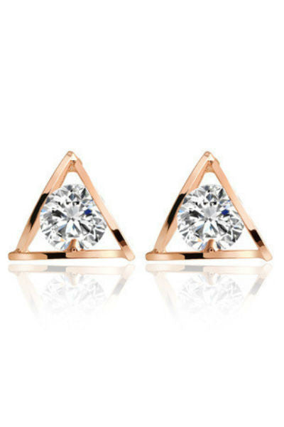 Triangle Crystal Earrings - Fierce Finds Mobile Boutique  - 3
