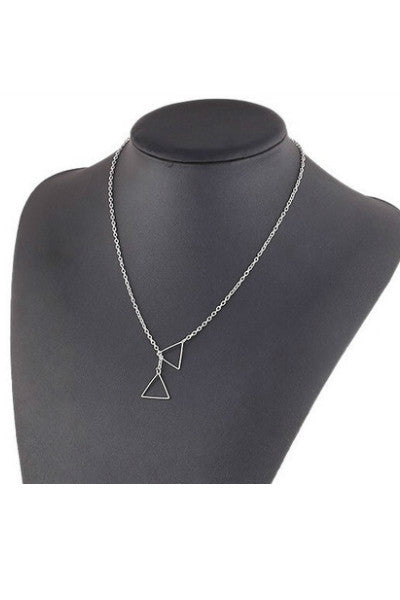 Dainty Triangle Necklace - Fierce Finds Mobile Boutique  - 4