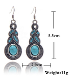 Boho Twist Turquoise Earrings - Fierce Finds Mobile Boutique  - 4
