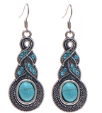 Boho Twist Turquoise Earrings - Fierce Finds Mobile Boutique  - 2
