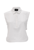 White Crop Polo - Fierce Finds Mobile Boutique  - 4