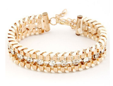 Hand Woven Rope Gold Bracelet - Fierce Finds Mobile Boutique  - 9