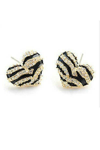 Striped Heart Earrings - Fierce Finds Mobile Boutique  - 2
