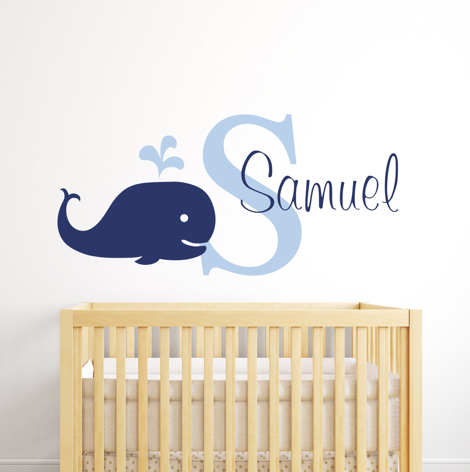 boys names tagged whale name wall decal nautical decor nursery wall decals