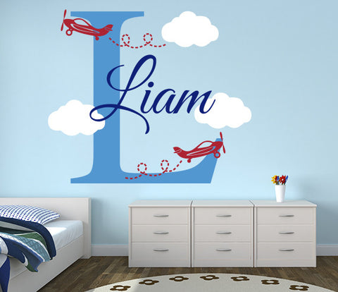 Airplanes Name Wall Decal