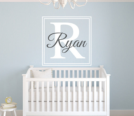 Custom Square Name Wall Decal Art Decor For Kids Room