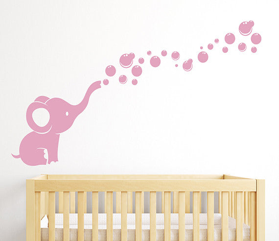 Elephant Bubbles Wall Decal | Lovely Decals World