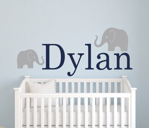 Elephant Name Wall Decal Part 75