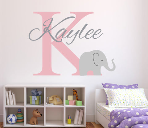 Elephant Name Wall Decal Part 90