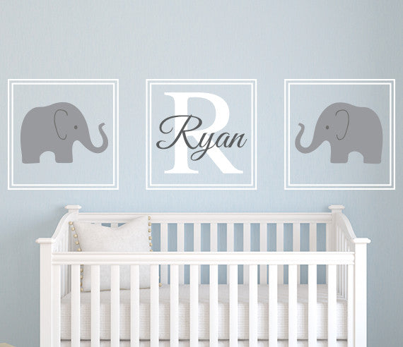 Elephant Wall Decals Lovely World