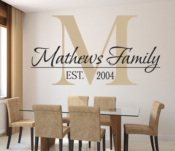 Family Name Wall Decal Custom Room Decor Art Vinyl & Family Name Wall Decal Custom Room Decor Art Vinyl | Lovely Decals World