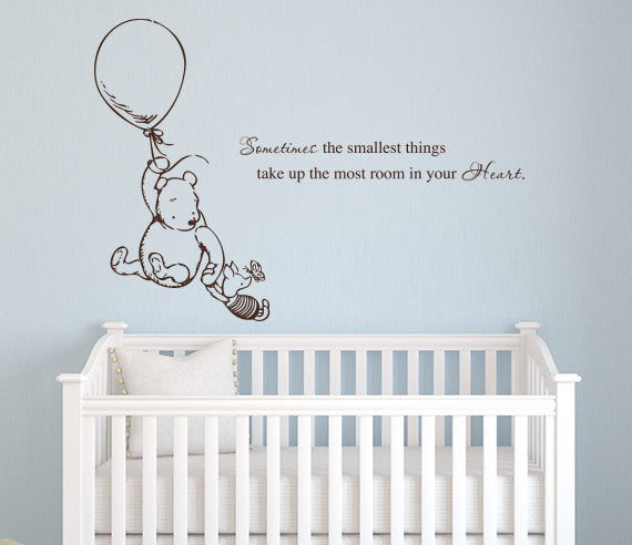 Muursticker Winnie The Pooh.Muurstickers Winnie The Pooh Sometimes The Smallest Things Baby