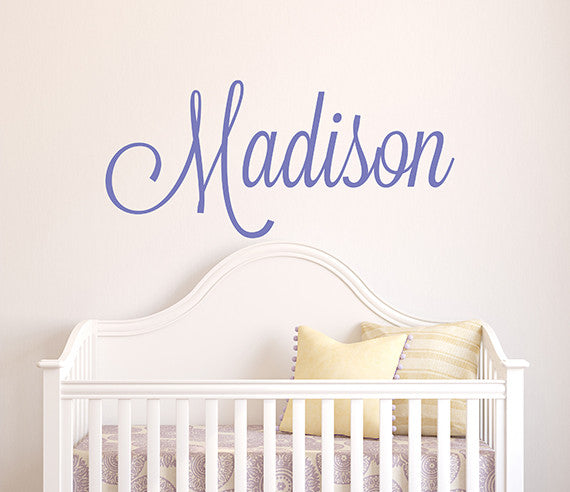 elegant girl's name wall decal decor art for kids room | lovely