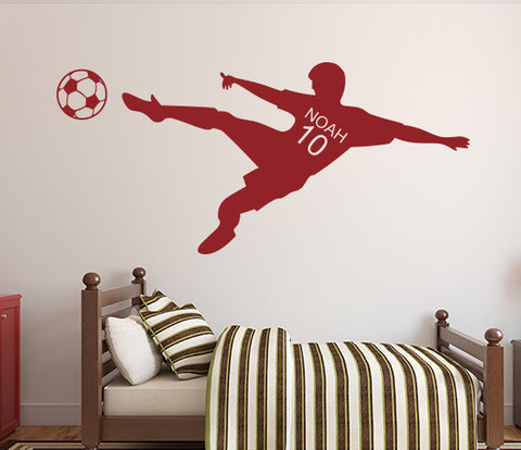 Soccer Wall Decal Personalized Name Art Decor Vinyl