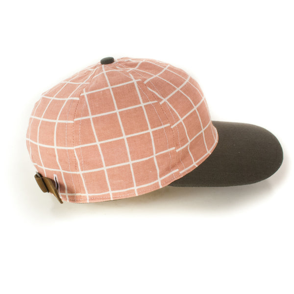 Pink-White Grid w/ Charcoal Brim
