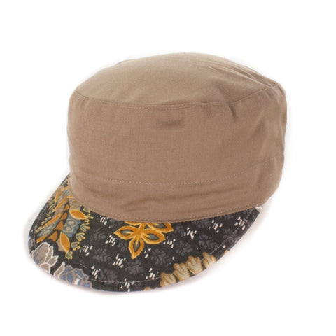 Oldhat #7378, Cadet hat, handmade with recycled material
